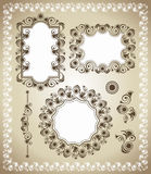 Vintage frame set Stock Images