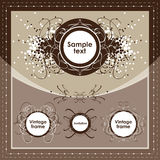 Vintage frame set. Design elements vector illustration