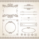 Vintage frame set Royalty Free Stock Photography