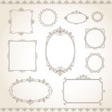 Vintage frame set Royalty Free Stock Photo