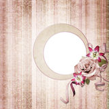 Vintage frame on shabby background Royalty Free Stock Images