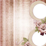 Vintage frame on shabby background Stock Image