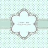 Vintage frame with shadow on polka-dot background Stock Images
