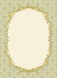 Vintage frame with shadow on seamless wallpaper Royalty Free Stock Images