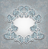 Vintage frame in silver color Stock Photography