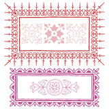 Vintage frame sketch in red and pink Royalty Free Stock Image