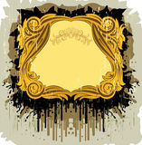 Vintage frame with the splats Stock Photos