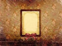 Vintage frame and tapestry flower background Royalty Free Stock Photography