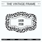The vintage frame template Stock Photo