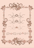 Vintage frame template Royalty Free Stock Images
