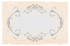 Vintage frame template for post card Stock Image