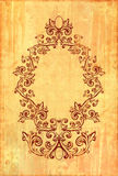 Vintage frame on textured background Royalty Free Stock Images