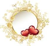 Vintage Frame Valentine's Day. Vector Illustration Stock Photography