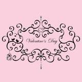 Vintage Frame Valentine's Day Royalty Free Stock Photography