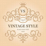 Vintage frame. Vector editable. Royalty Free Stock Photos