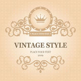 Vintage frame. Vector editable. Royalty Free Stock Image