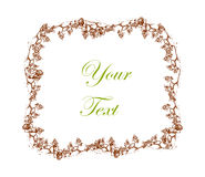 Vintage frame - vector illustration. Royalty Free Stock Photography