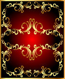 Vintage frame with vegetable gold(en) pattern Royalty Free Stock Photo