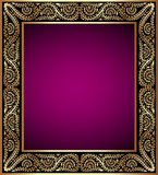vintage frame with vegetable golden pattern Royalty Free Stock Images