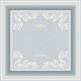 Vintage frame with victorian pattern Royalty Free Stock Images