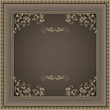 Vintage frame with victorian pattern Royalty Free Stock Photo