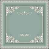 Vintage frame with victorian pattern Stock Image