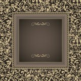 Vintage frame on victorian seamless pattern Royalty Free Stock Image