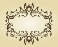 Vintage frame in victorian style Royalty Free Stock Photography