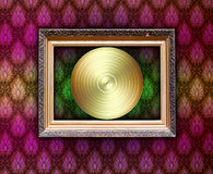 Vintage Frame with Vinyl Record Royalty Free Stock Photos