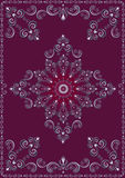 Vintage  frame with violet luxury ornament Royalty Free Stock Image