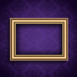 Vintage frame on wallpaper background Stock Image
