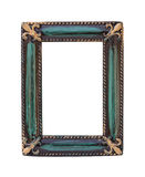 Vintage frame on white Stock Photography