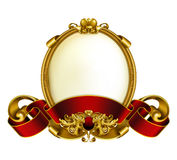 Vintage frame white Royalty Free Stock Photo