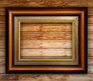 Vintage Frame on Wood Stock Images