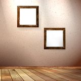 Vintage frame on a wooden texture. EPS 10 Stock Photo