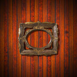 Vintage Frame on Wooden Wall Stock Images