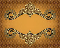 Vintage frame on yellow brown background Royalty Free Stock Image