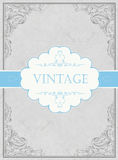 Vintage framed background. With label. Vector, EPS10 Stock Images