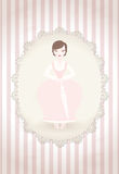 Vintage framed lady Stock Photo