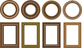 Vintage frames. Collection of vintage wooden frames Stock Image
