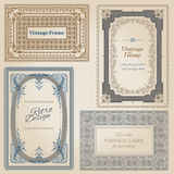 Vintage frames. And design elements - with place for your text - in Stock Photos