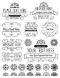 Vintage Frames, Badges and Elements. A collection of frames and elements royalty free illustration