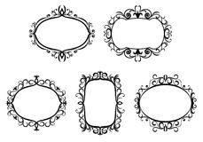 Vintage frames and borders Royalty Free Stock Photos