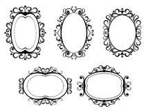 Vintage frames and borders stock illustration