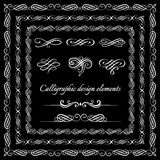 Vintage frames, borders. calligraphic and page decoration signs. Royalty Free Stock Photography