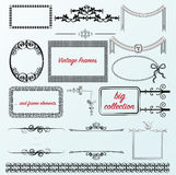 Vintage frames calligraphic collection borders Stock Image