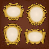 Vintage Frames Cartouches Scrolls Royalty Free Stock Image