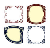 Vintage frames colored Royalty Free Stock Photo