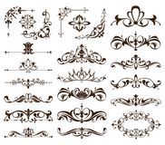 Vintage frames, corners, borders with delicate swirls in Art Nouveau for decoration and design works with floral motifs vintage st. A set of large sea pearls of Stock Images