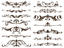 Vintage frames, corners, borders with delicate swirls in Art Nouveau decoration and design works with floral motifs vintage style. With beautiful floral Stock Photos